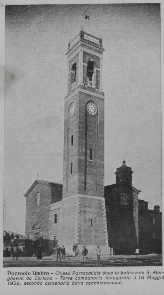 POZZUOLO UMBRO PERUGIA CHIESA E CAMPANILE INAUGURATO NEL 1928